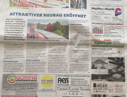Baukollektiv in der Pforzheimer Zeitung
