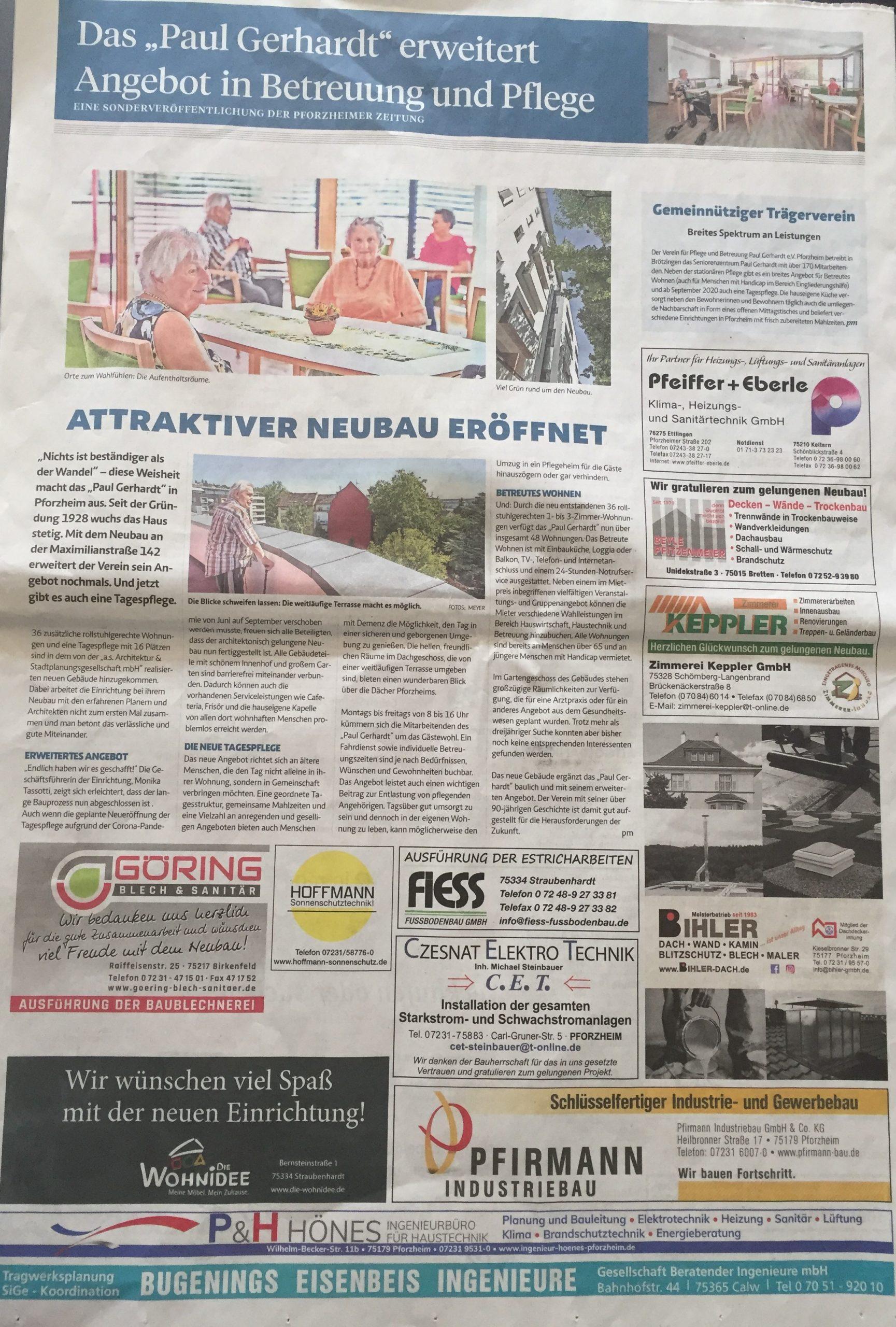 Pforzheimer Zeitung Stellenanzeige